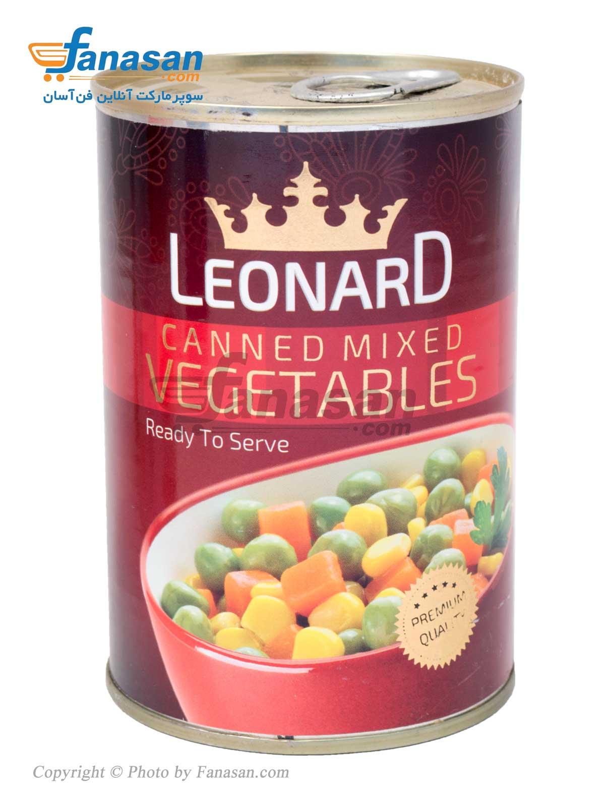 کنسرو مخلوط سبزیجات لئونارد 420 گرم