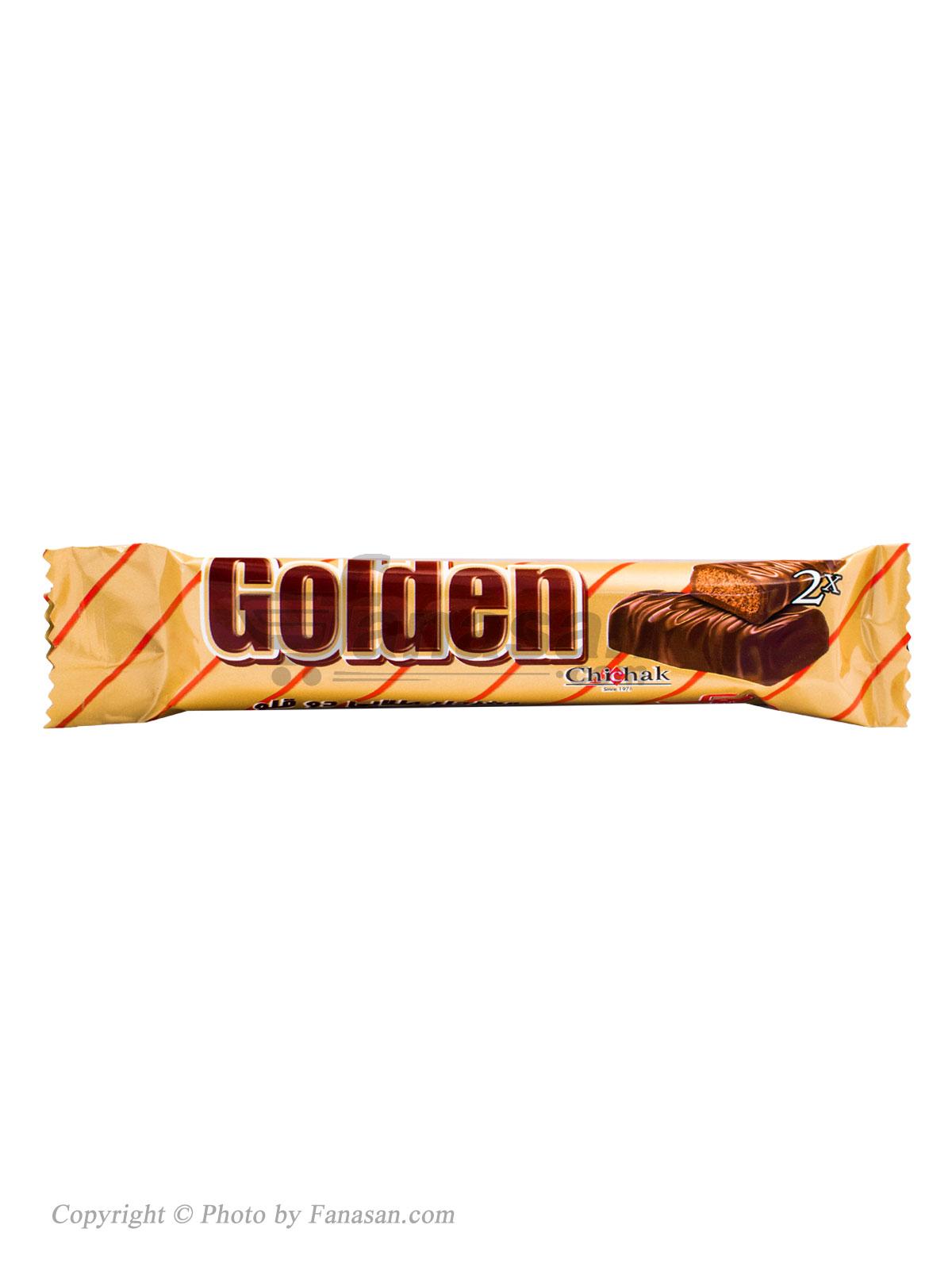 شکلات مغزدار طلایی دو قلو چیچک 43 گرم