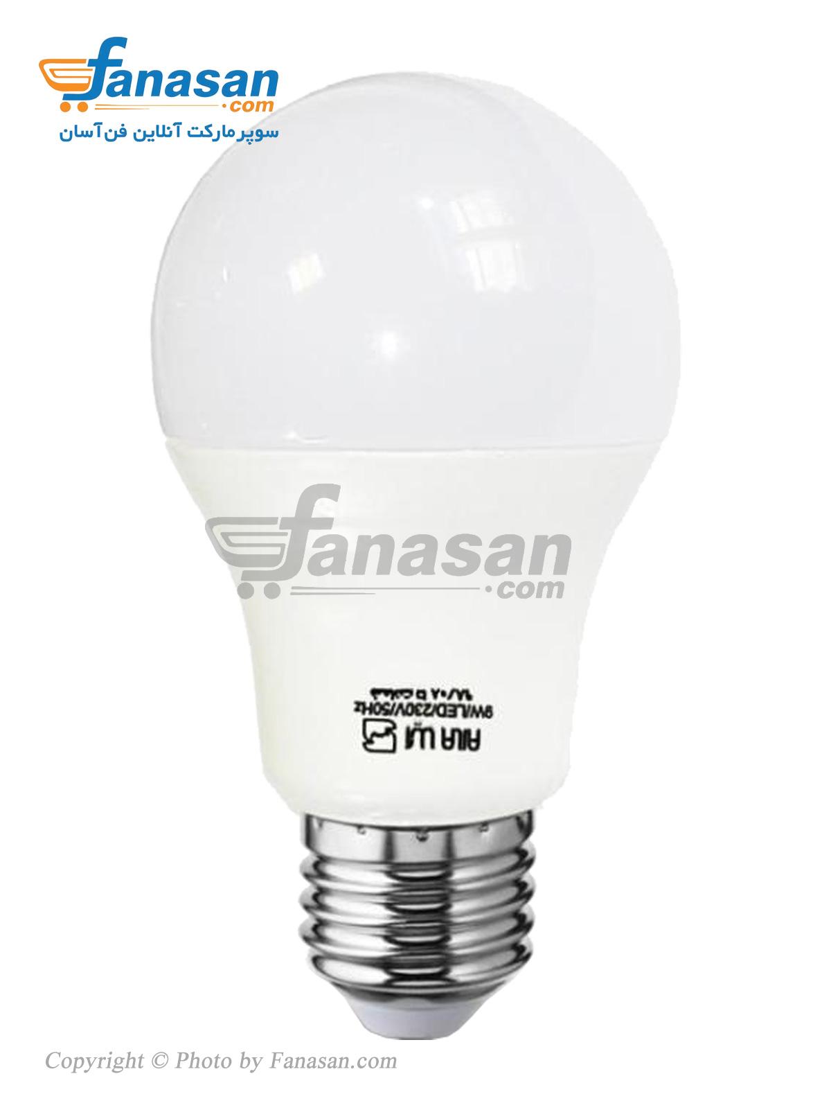 لامپ آیلا مهتابی مات مدل E27 فوق کم مصرف 9 وات