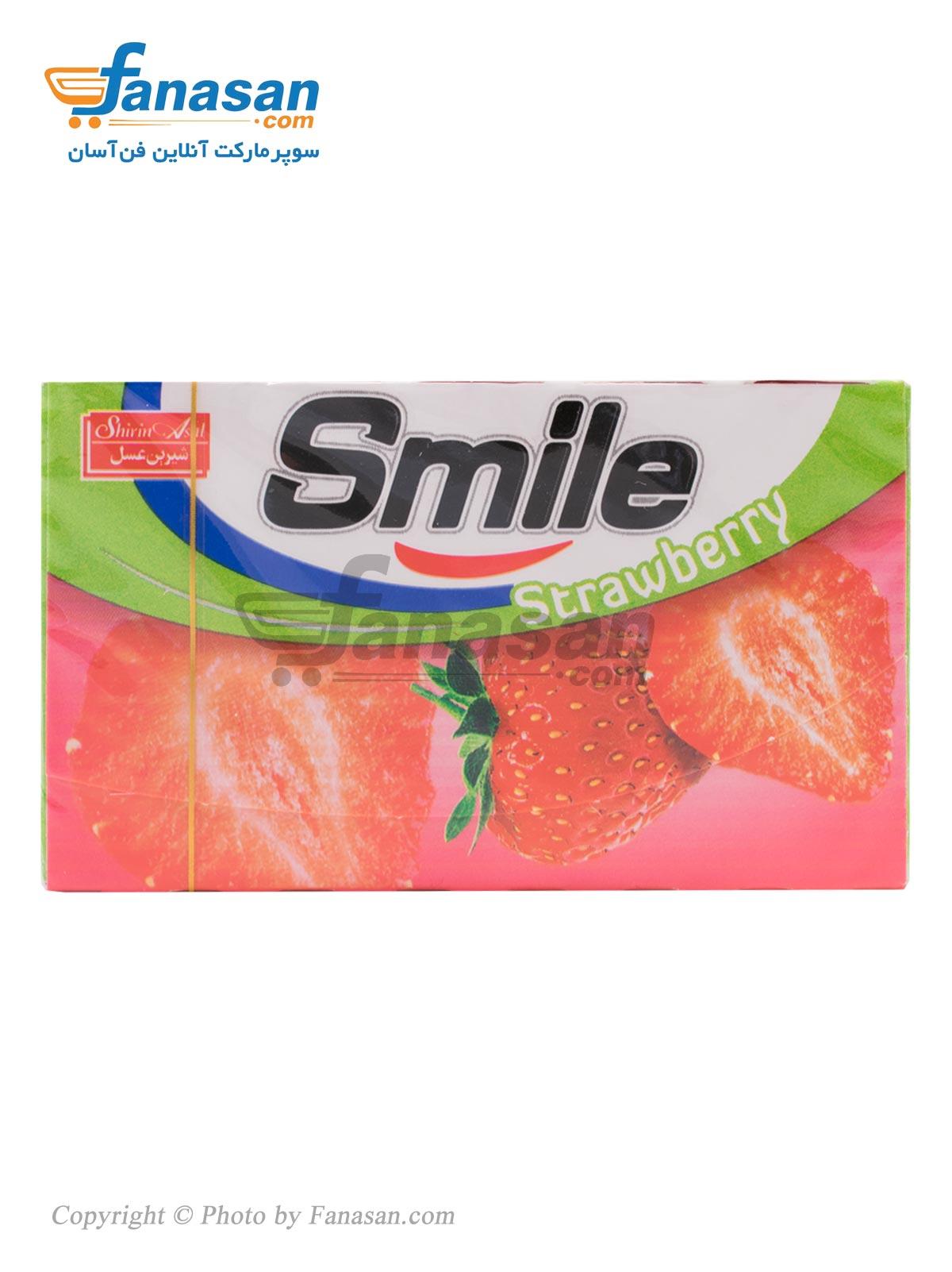 آدامس اسمایل شیرین عسل با طعم توت فرنگی 7 عددی