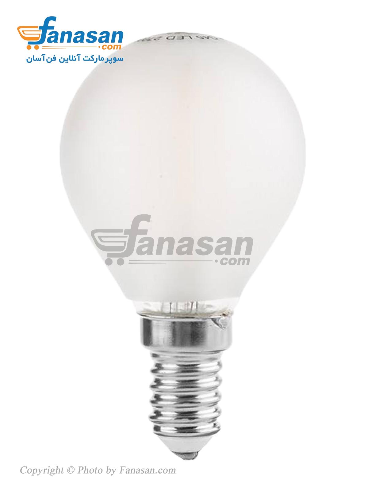 لامپ فیلامنتی آفتابی شعاع سرپیچ حبابی پایه E14 مات 4 وات