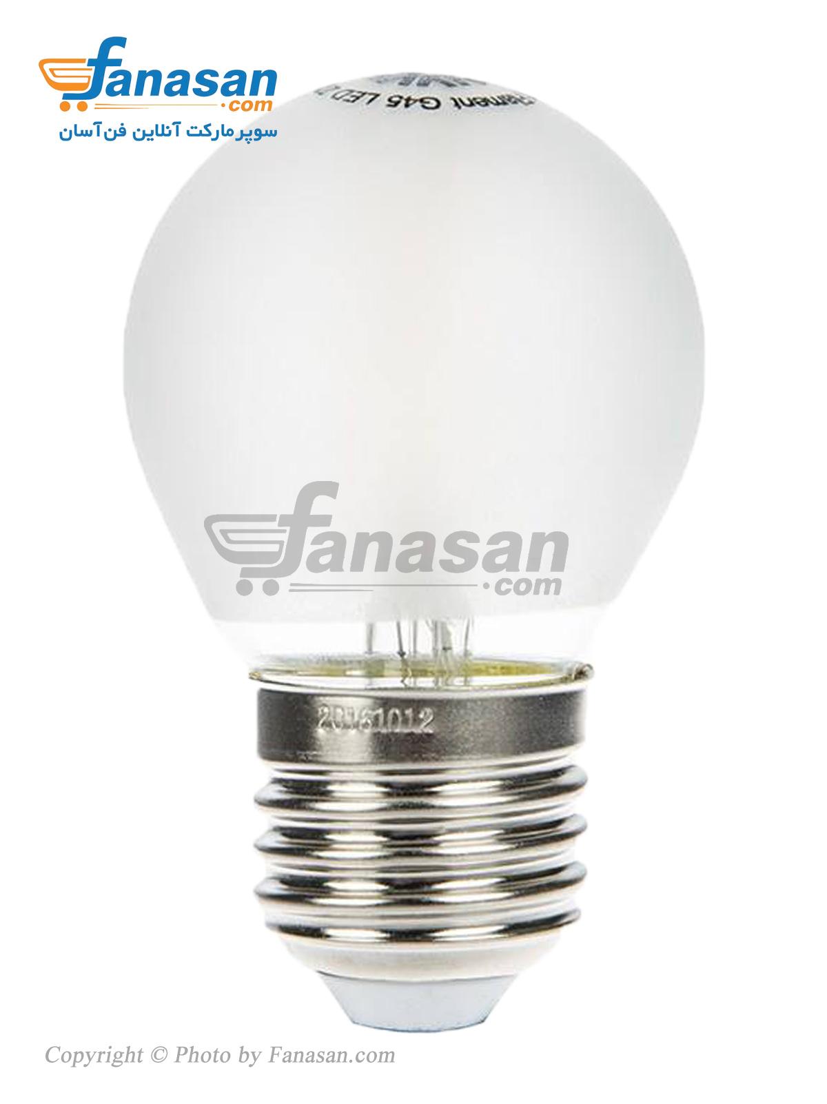 لامپ فیلامنتی آفتابی شعاع سرپیچ پایه E27 مات 4 وات