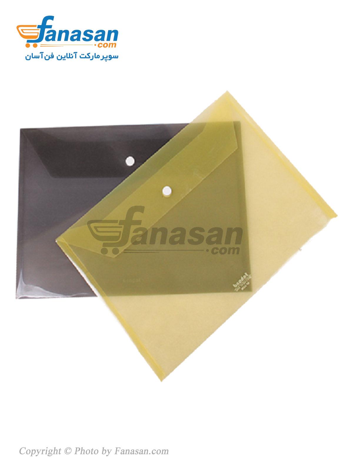 پاکت دکمه دار سهند ترانس ( شفاف ) سایز A4 در رنگ های مختلف