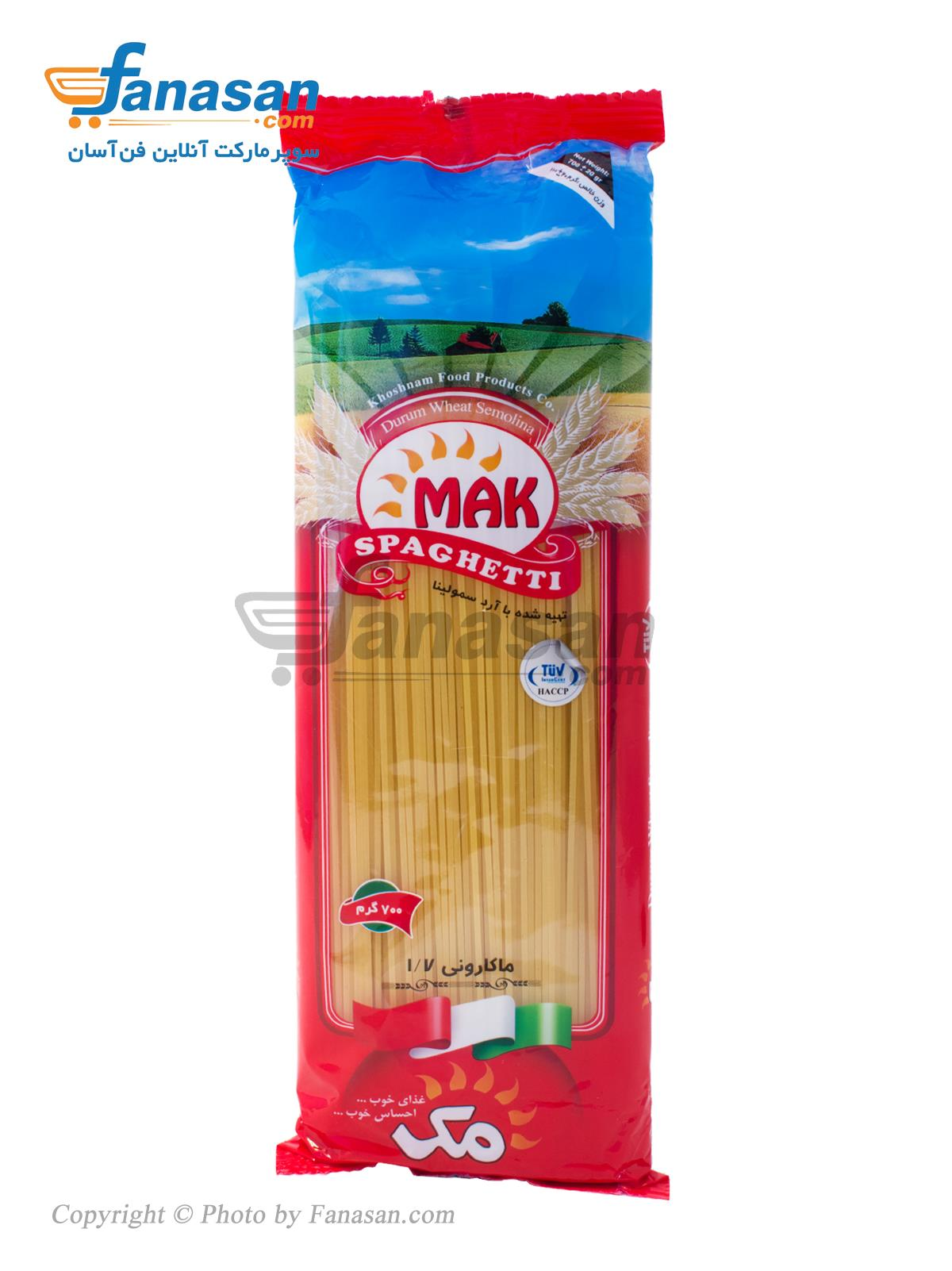 اسپاگتی مک 1/7 با آرد سمولینا 700 گرم
