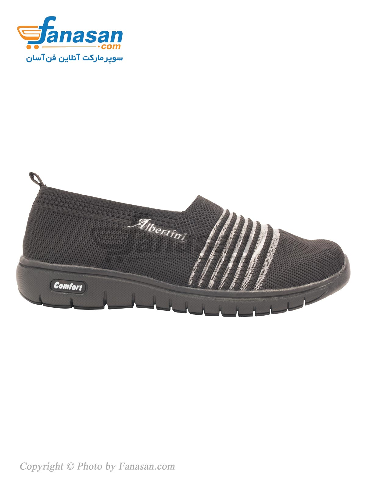 کفش راحتی چهارفصل زنانه نهرین مدل شیک Albertini مشکی سایز 38