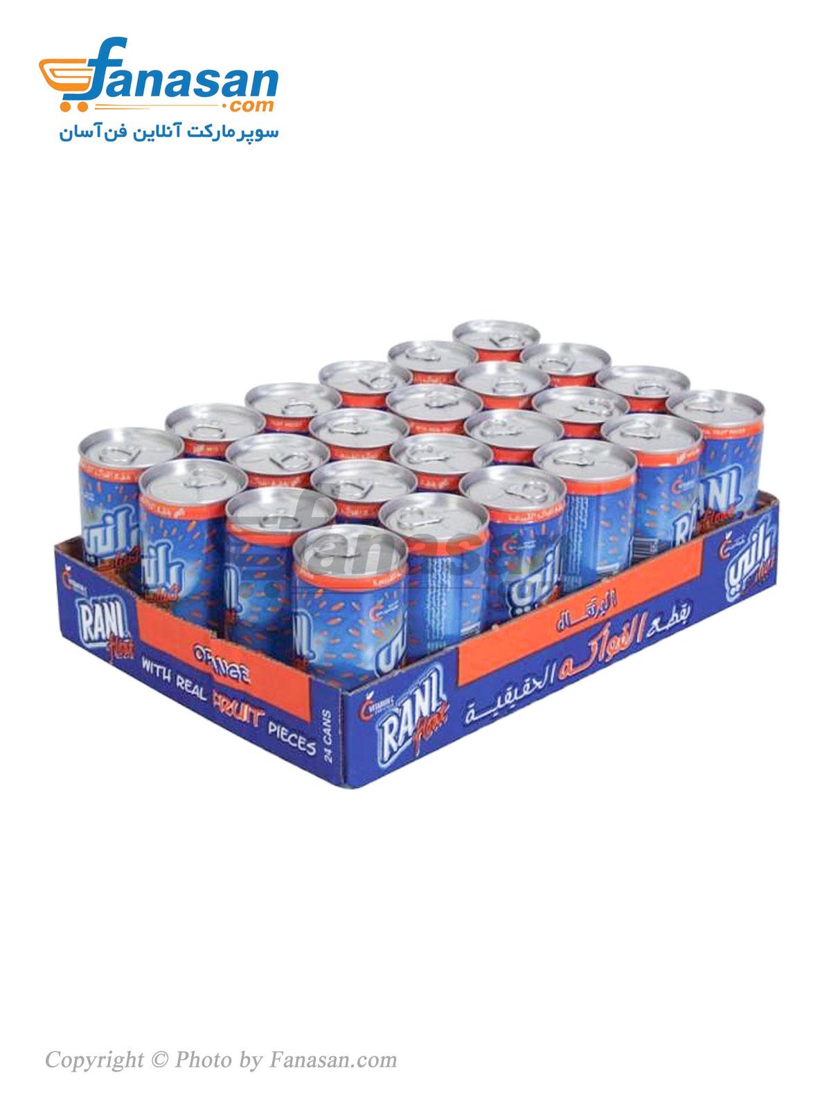 بسته 24 عددی نوشیدنی پرتقال رانی 240 میلی لیتر