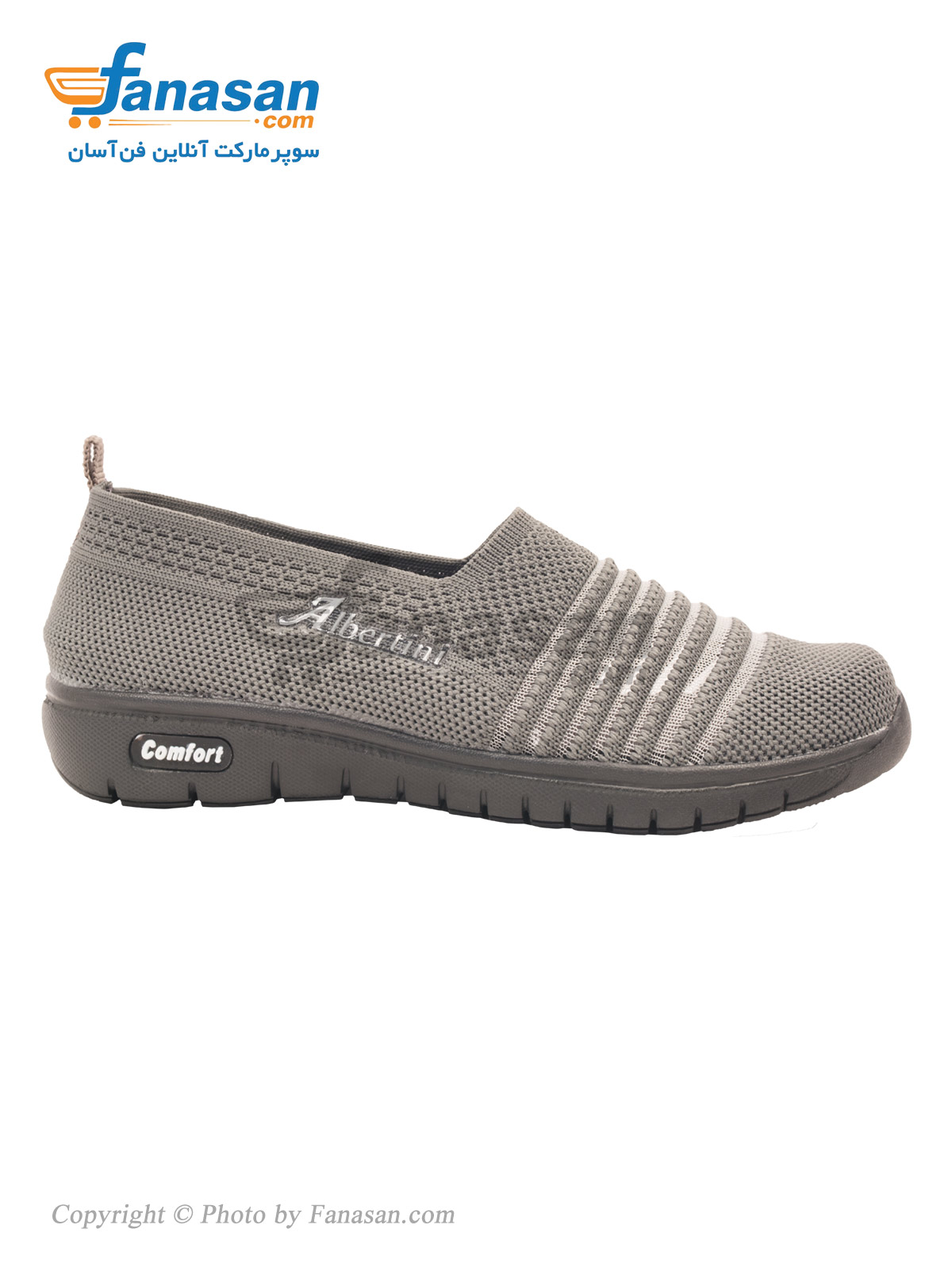 کفش راحتی چهارفصل زنانه نهرین مدل شیک Albertini طوسی تیره سایز 38
