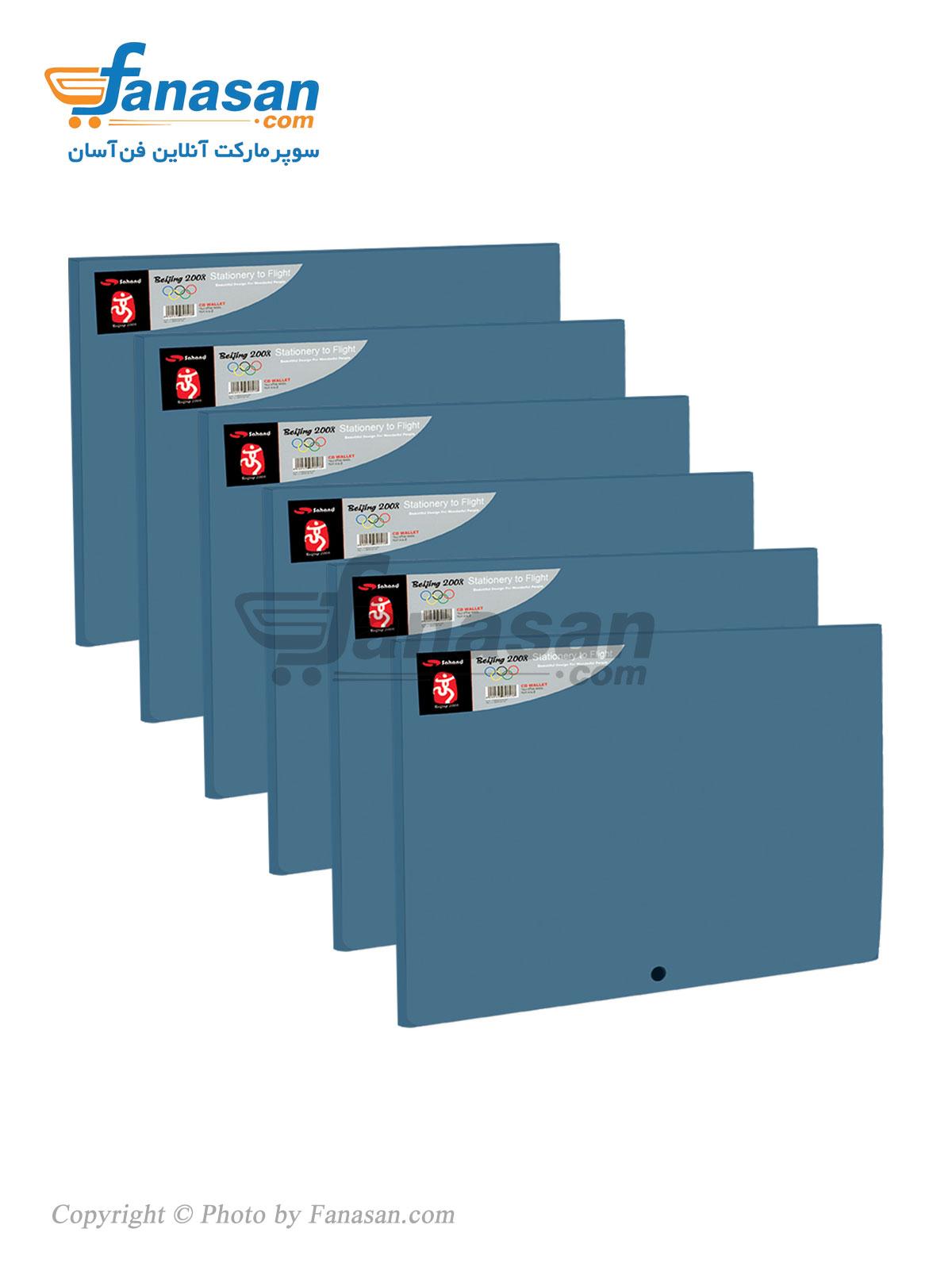 بسته 6 عددی کیف سهند تک دکمه متالیک در رنگ های مختلف