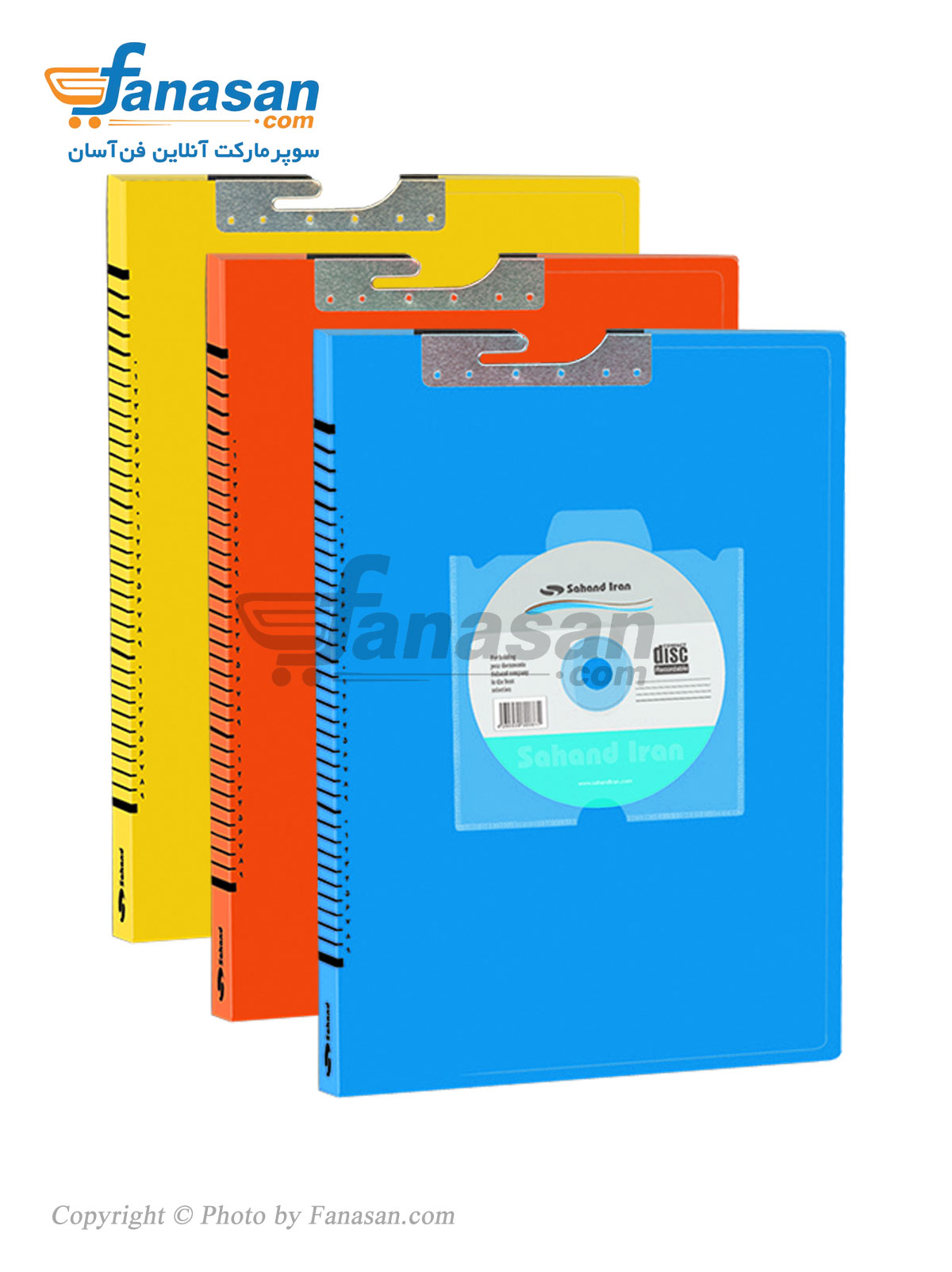 بسته 12 عددی پوشه سهند آویز گردان همراه با جای CD در رنگ های مختلف