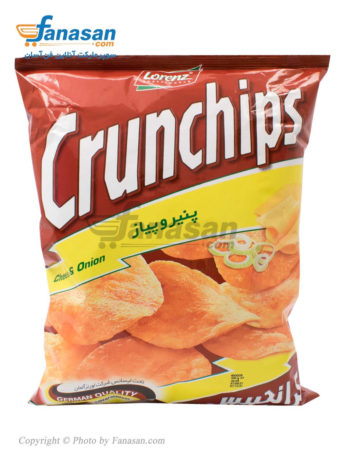 چیپس کرانچیپس با طعم پنیر و پیاز 220 گرم
