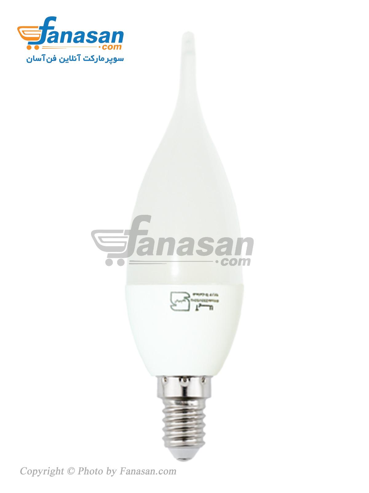 لامپ آیلا مهتابی مات پایه E14 شمعی ال ای دی 7 وات