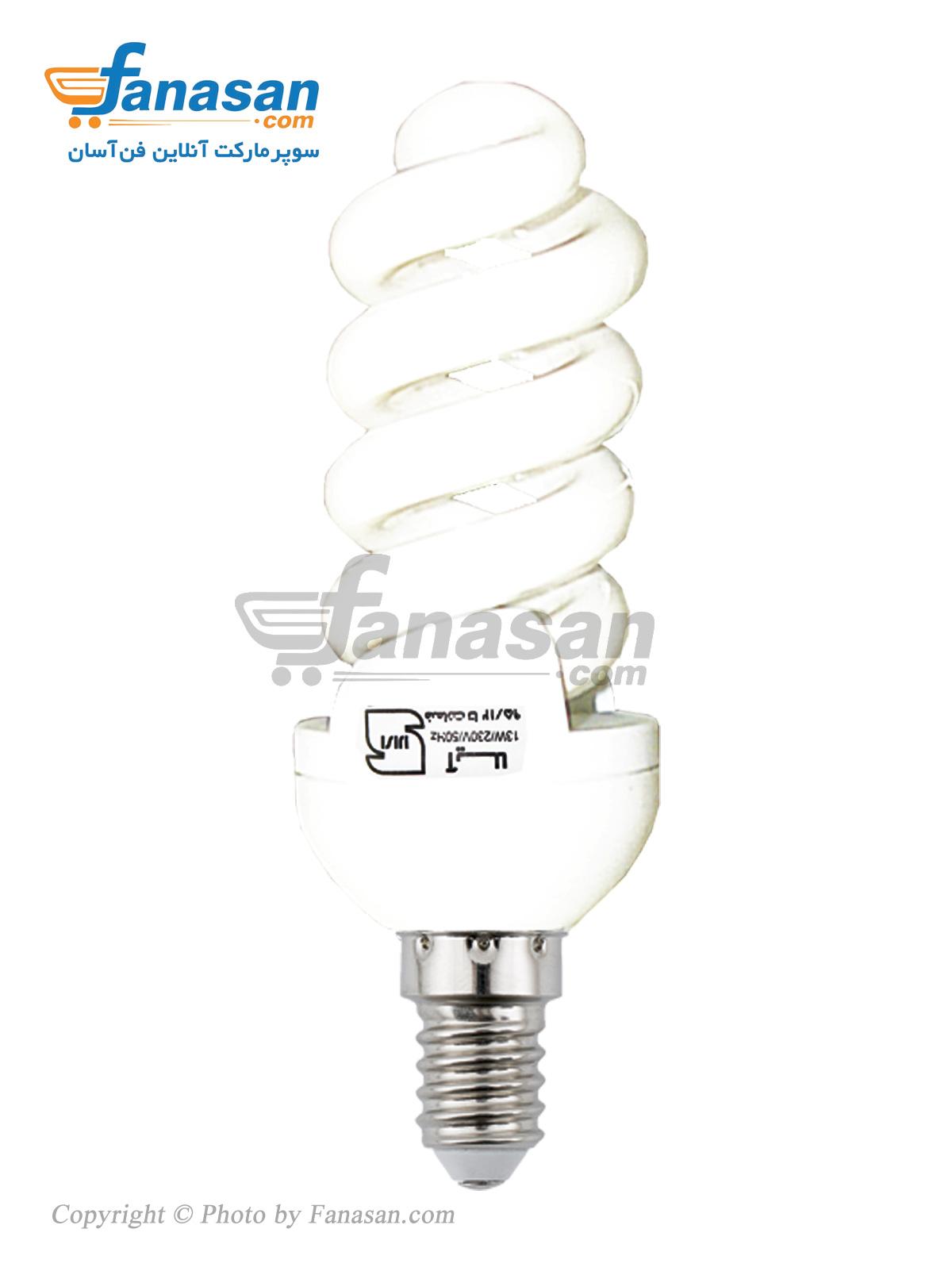 لامپ آیلا مهتابی پایه E14 پیچی کم مصرف 12 وات