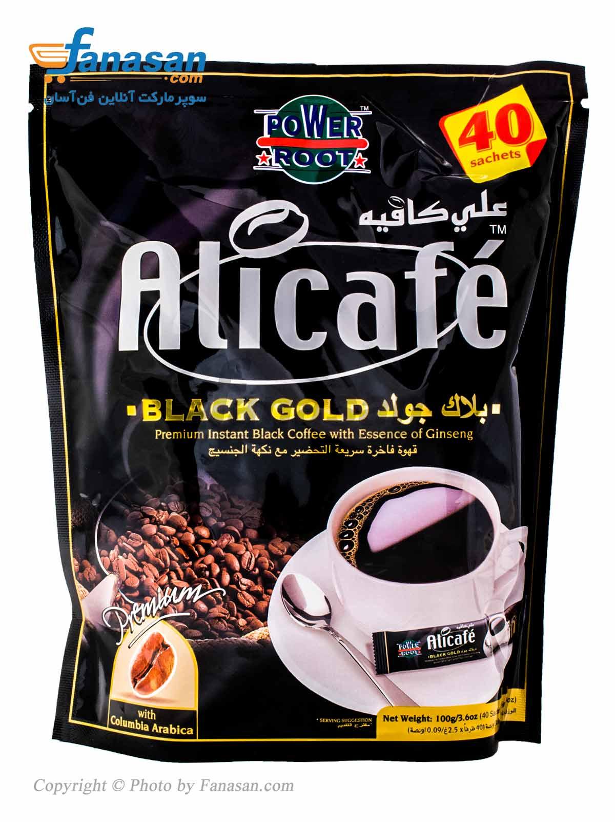 قهوه تلخ فوری بلک گلد علی کافه 40 عددی