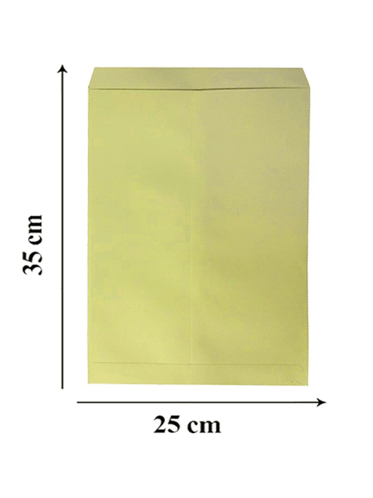 بسته 10 عددی پاکت زرد سایز A4