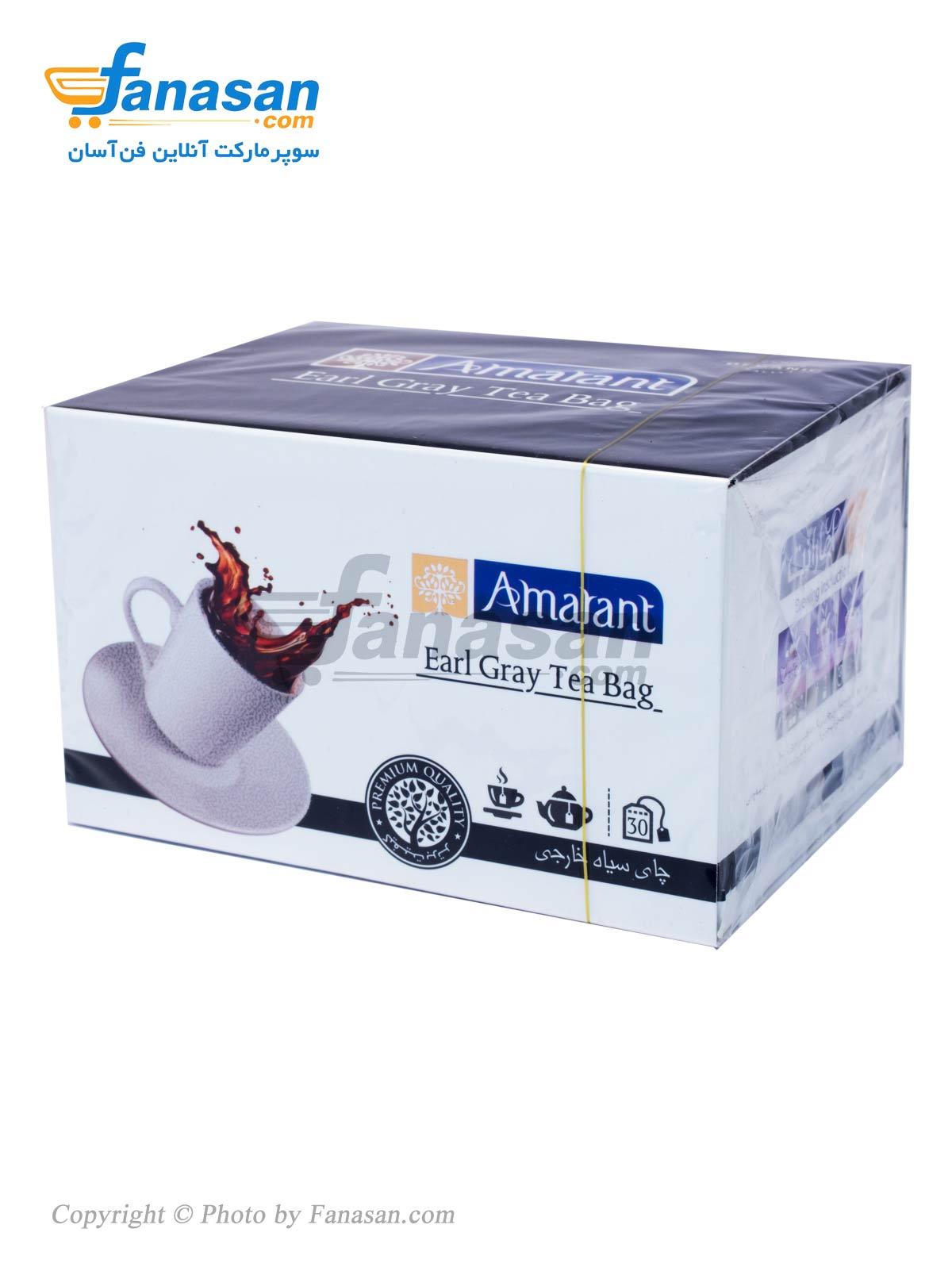 چای کیسه ای سیاه خارجی آمارانت عطری 30 عدد
