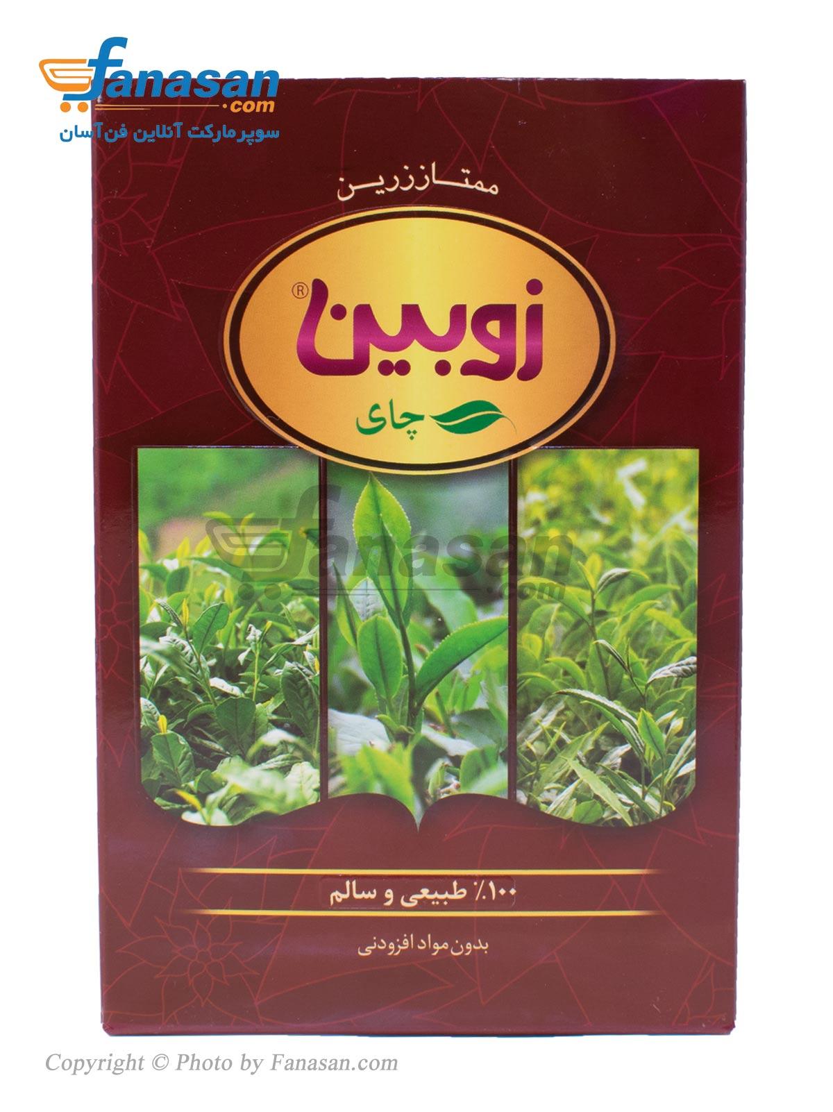 چای ممتاز زرین زوبین ارگانیک 450 گرم