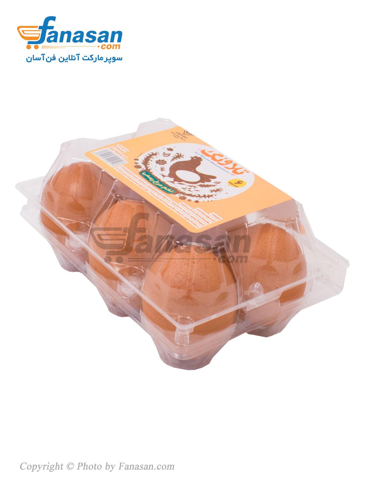 تخم مرغ رسمی تلاونگ 6 عددی