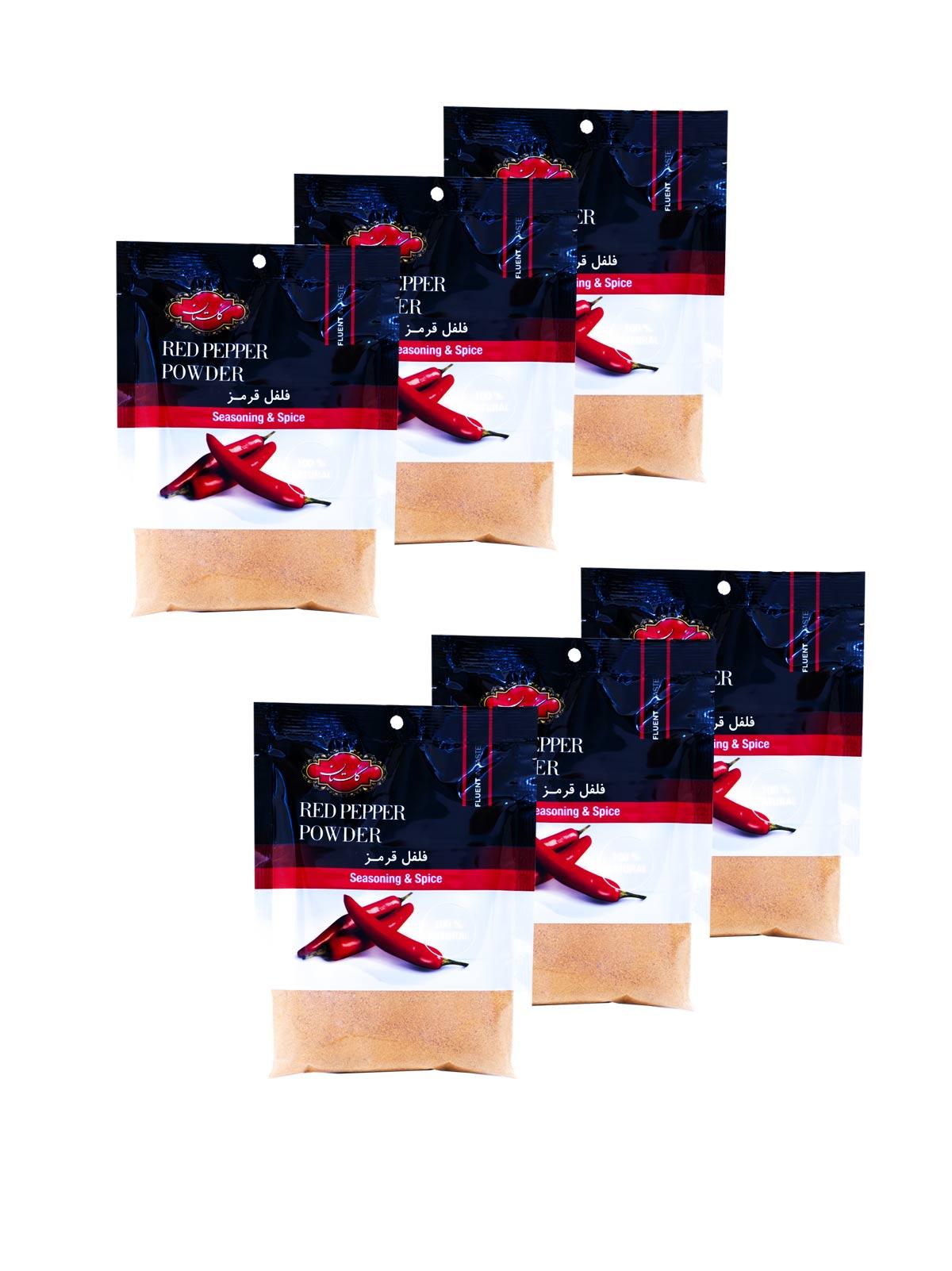 بسته 6 عددی فلفل قرمز گلستان سلفونی 75 گرم