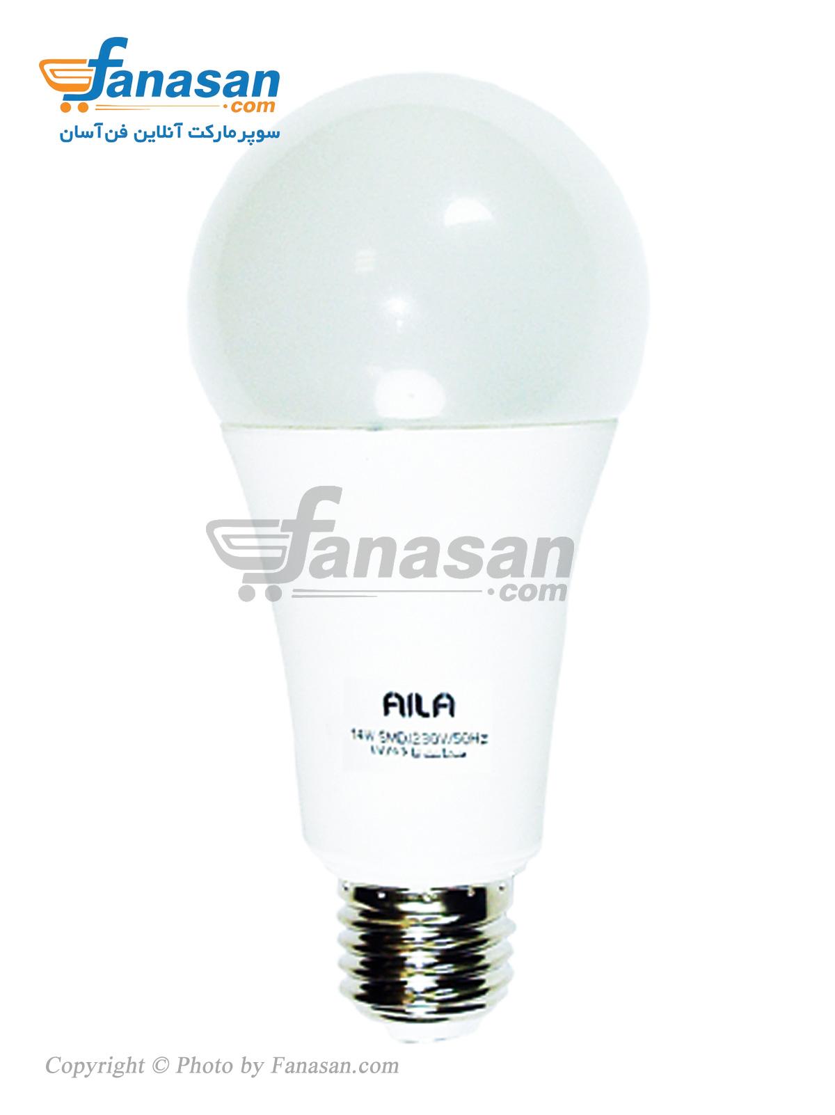 لامپ آیلا مهتابی مات پایه E27 ال ای دی 14 وات