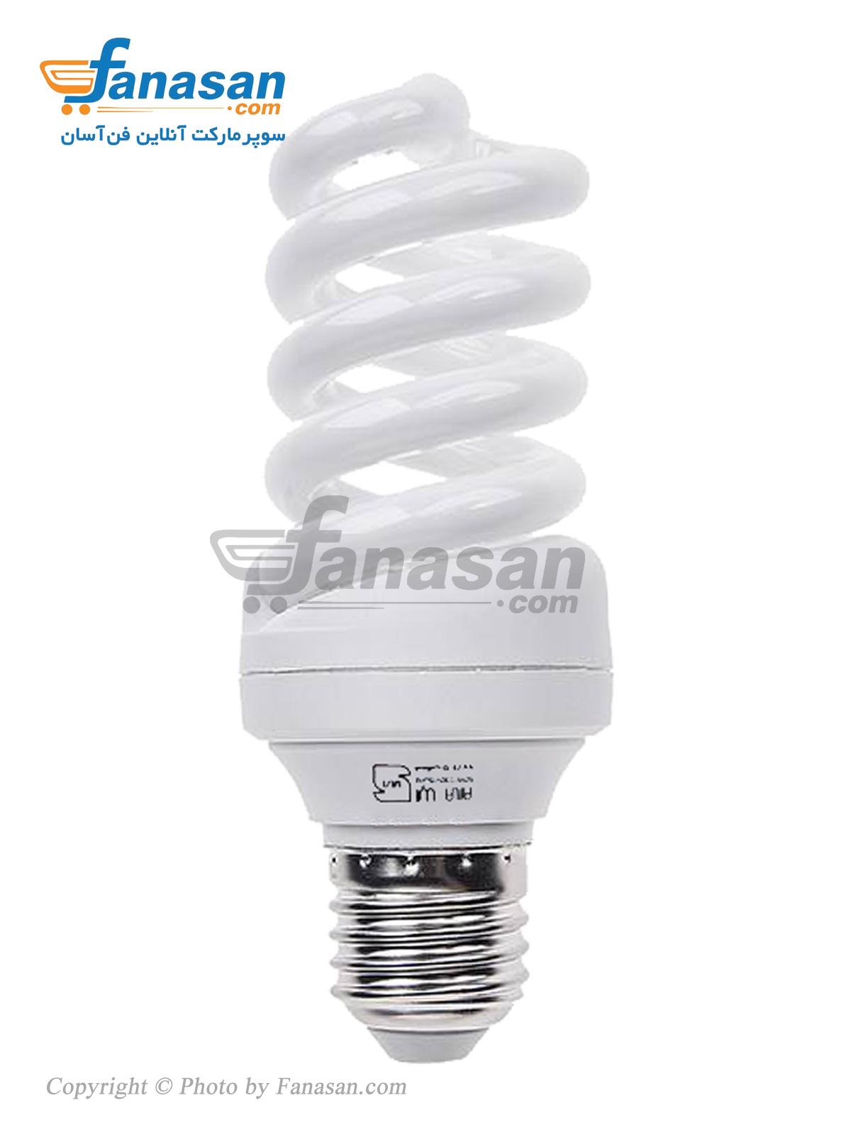 لامپ آیلا مهتابی پایه E27 پیچی کم مصرف 18 وات