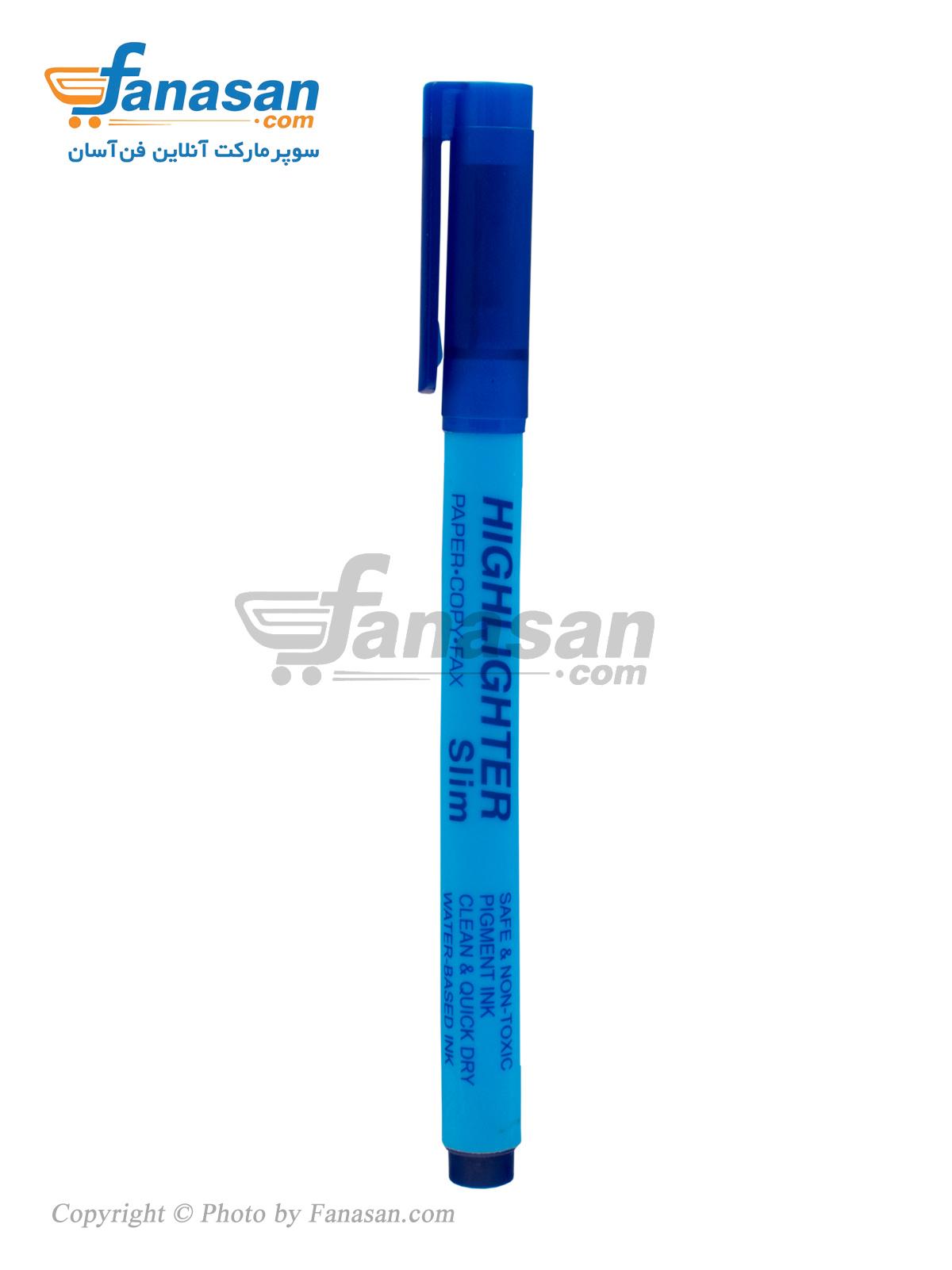 ماژیک علامت گذار پنتر رنگ آبی مدل slim