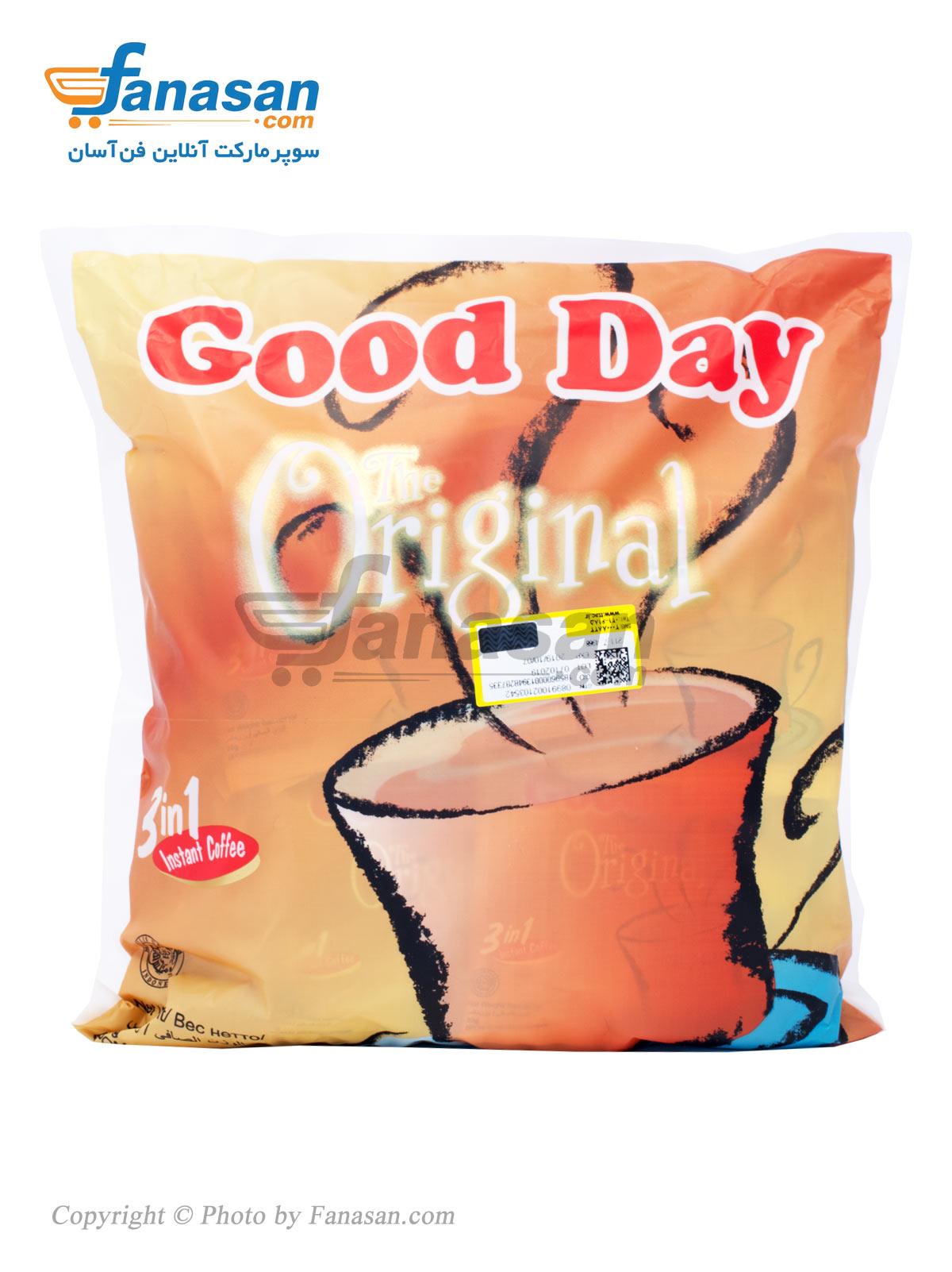 مخلوط پودر قهوه فوری 3 در 1 گوددی اورجینال 30 عددی