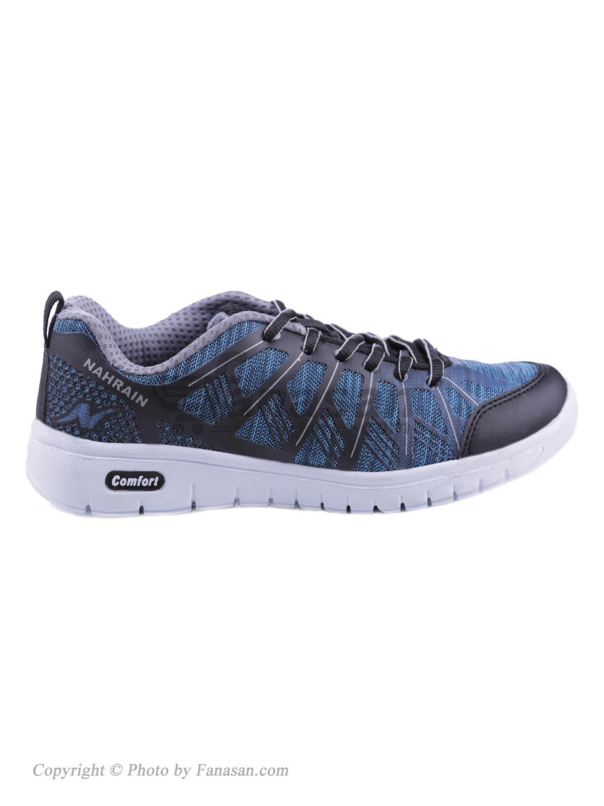 کفش زنانه نهرین مخصوص دویدن و پیاده روی مدل هما آبی مشکی سایز 38
