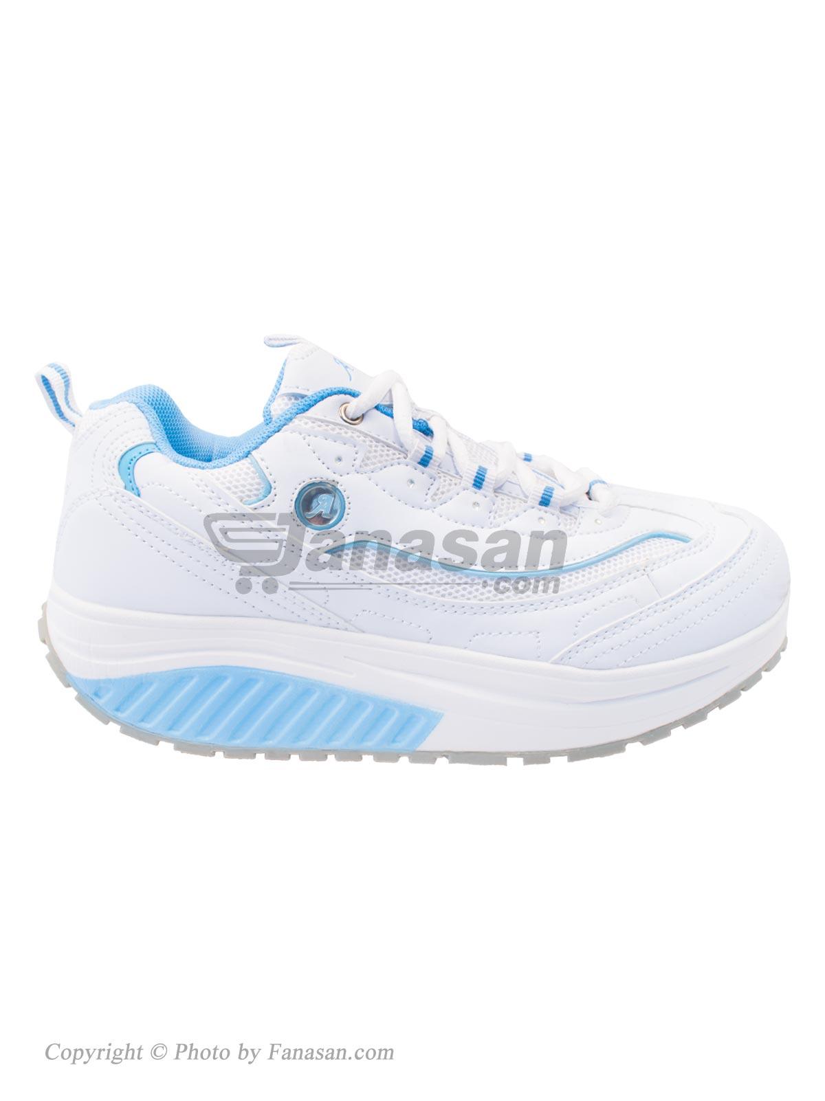 کفش زنانه آلبرتینی نهرین مخصوص پیاده روی مدل پرفکت سفید آبی سایز 39