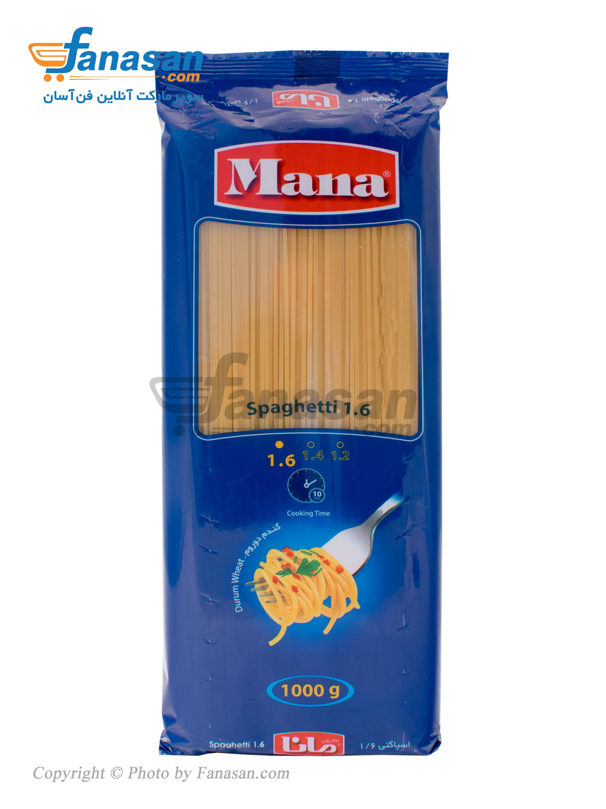 اسپاگتی 1/6 مانا با آرد سمولینا 1000 گرم