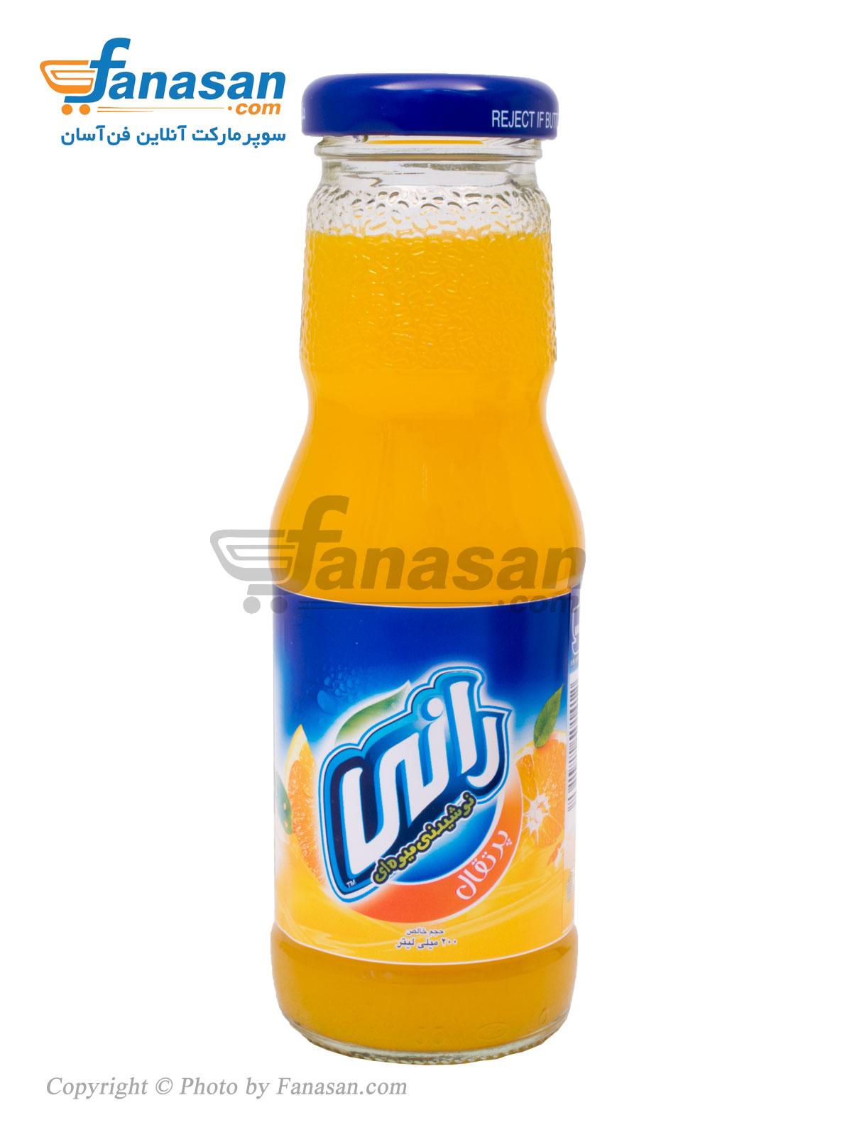نوشیدنی بدون گاز رانی با طعم پرتقال شیشه ای 200 میلی لیتر