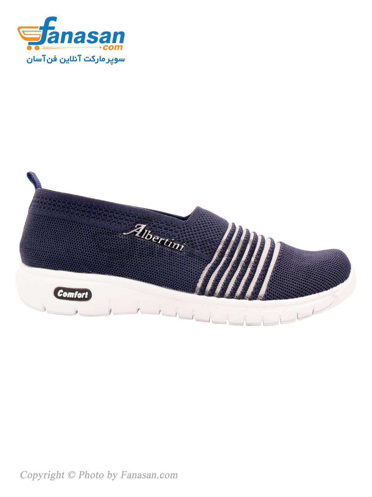 کفش راحتی چهارفصل زنانه نهرین مدل شیک Albertini سرمه ای سایز 39