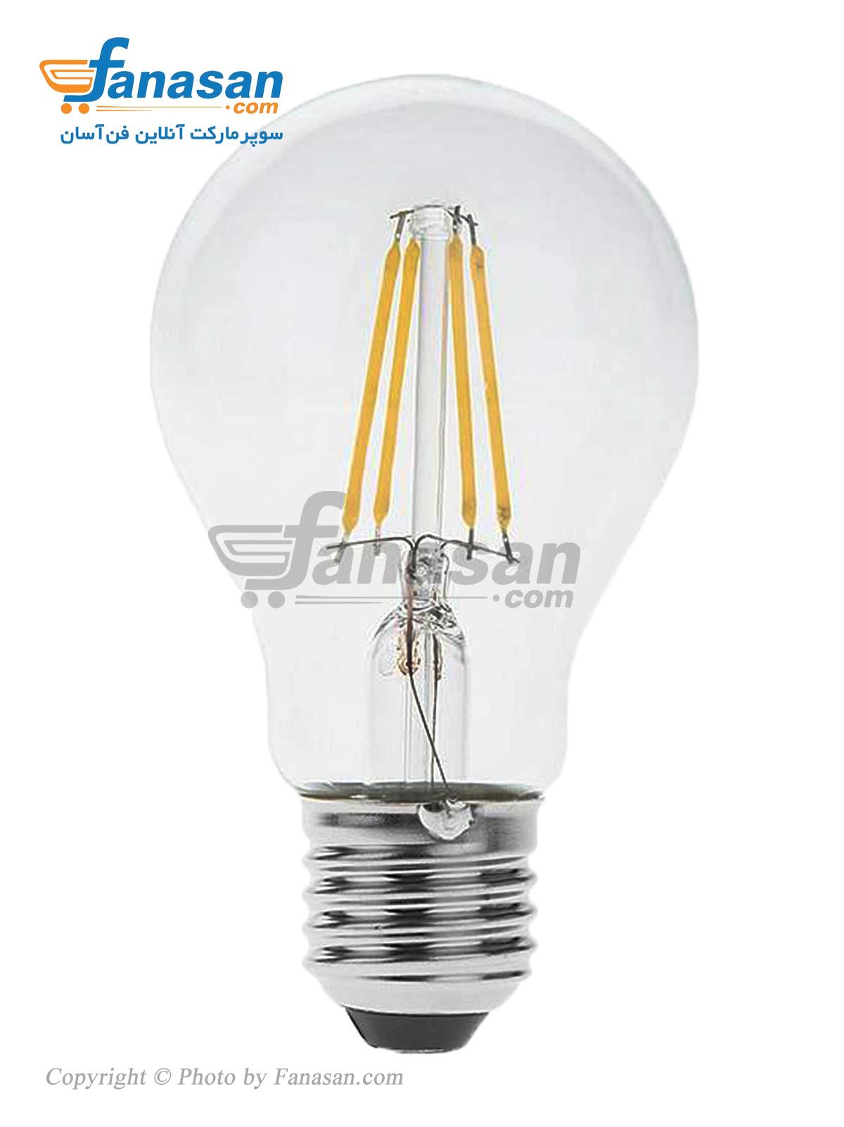 لامپ فیلامنتی مهتابی شعاع سرپیچ پایه E27 شفاف 7 وات