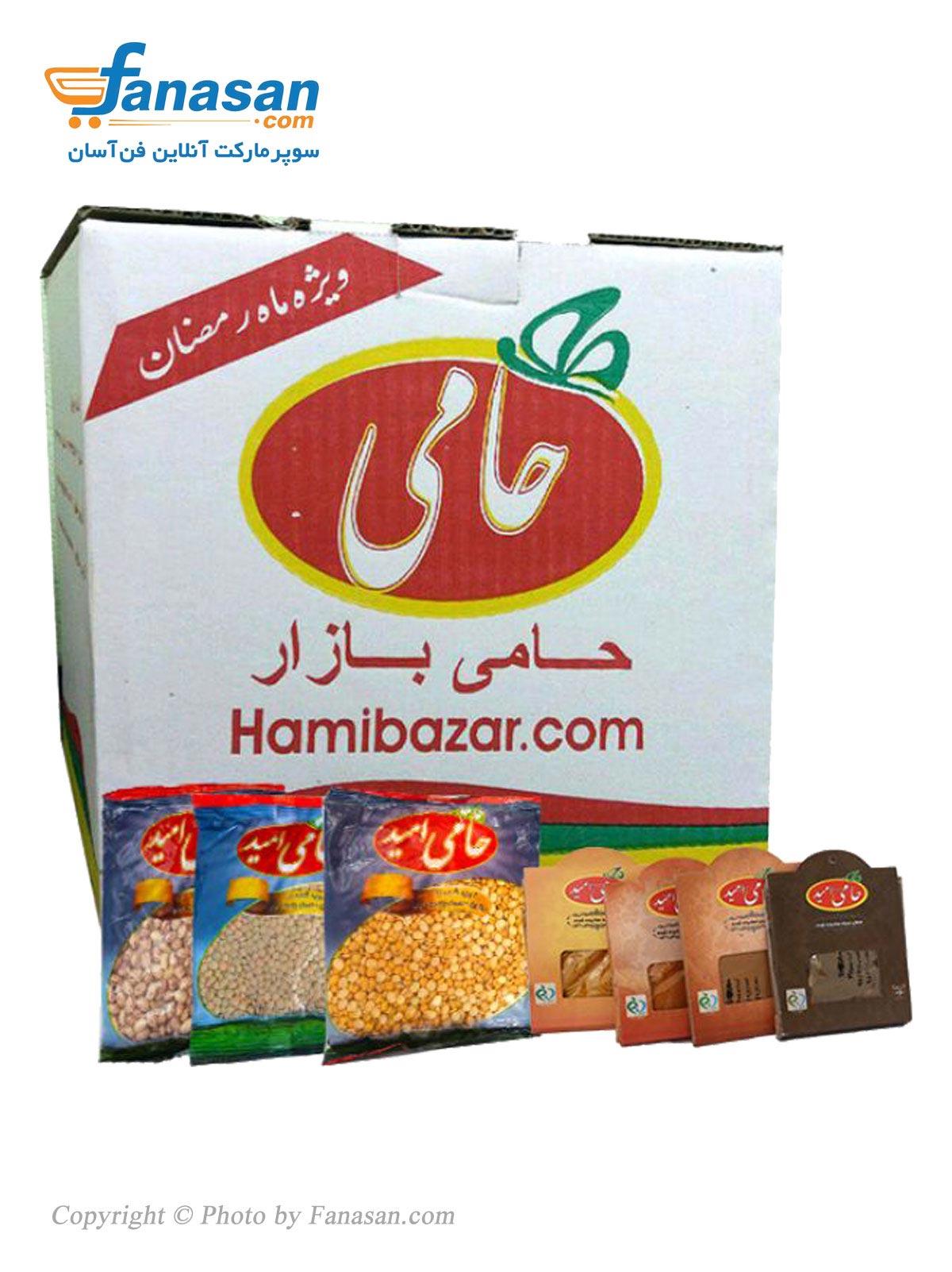 بسته غذایی حامی امید ویژه ماه مبارک رمضان